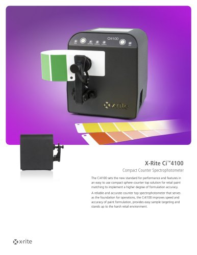 X-Rite Ci™4100 Compact Counter Spectrophotometer