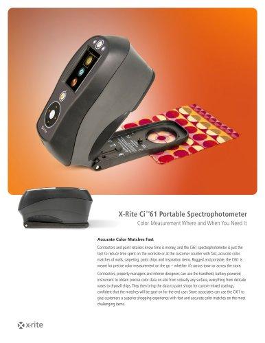 X-Rite Ci™61 Portable Spectrophotometer