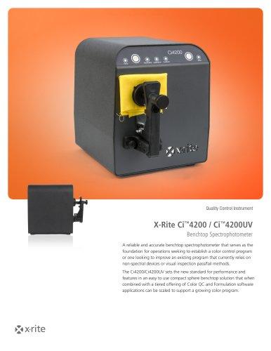 X-Rite Ci™4200 / Ci™4200UV Benchtop Spectrophotometer