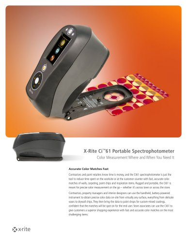 X-Rite Ci™61 Portable Spectrophotometer