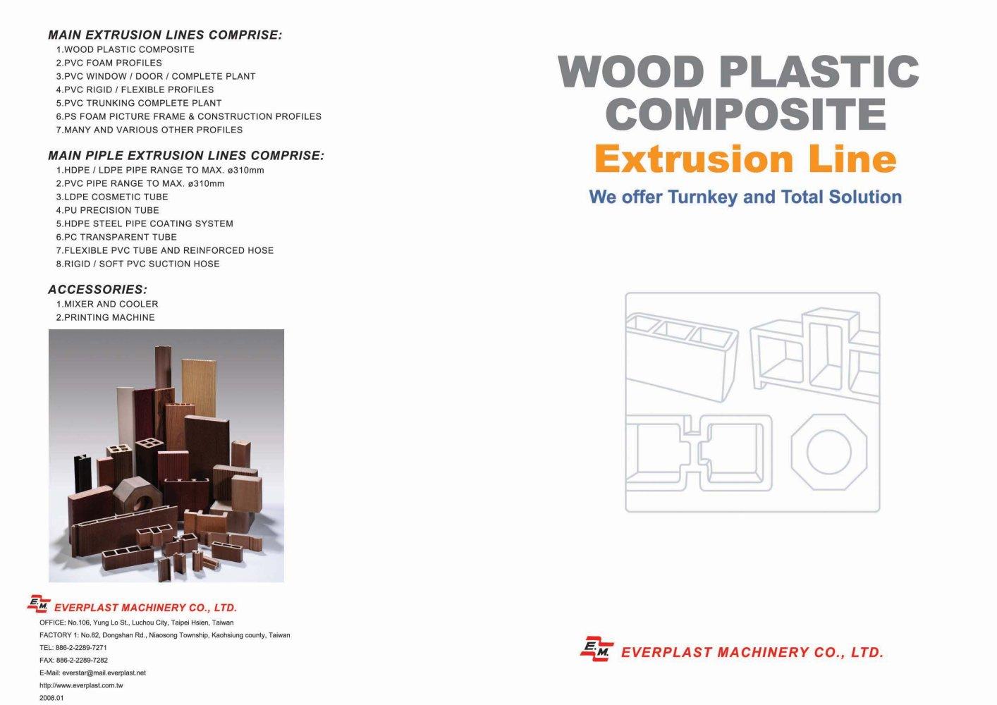 wood plastic composite extrusion line - Everplast Machinery Co ...