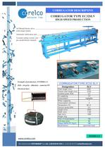 CORRUGATOR TYPE EC32SLV HIGH SPEED PRODUCTION