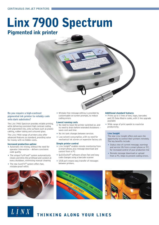 Linx 7900 Spectrum - 1 / 2 Pages