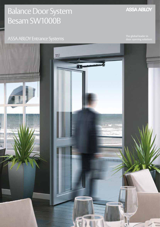 Besam Sw1000b Assa Abloy Entrance Systems Pdf Catalogue