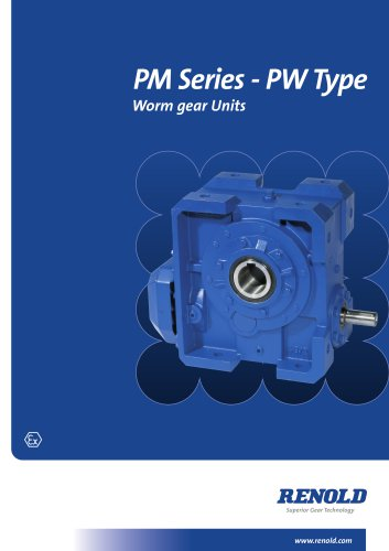 PM Series PW Type Wormgear Unit - RENOLD - PDF Catalogs | Technical