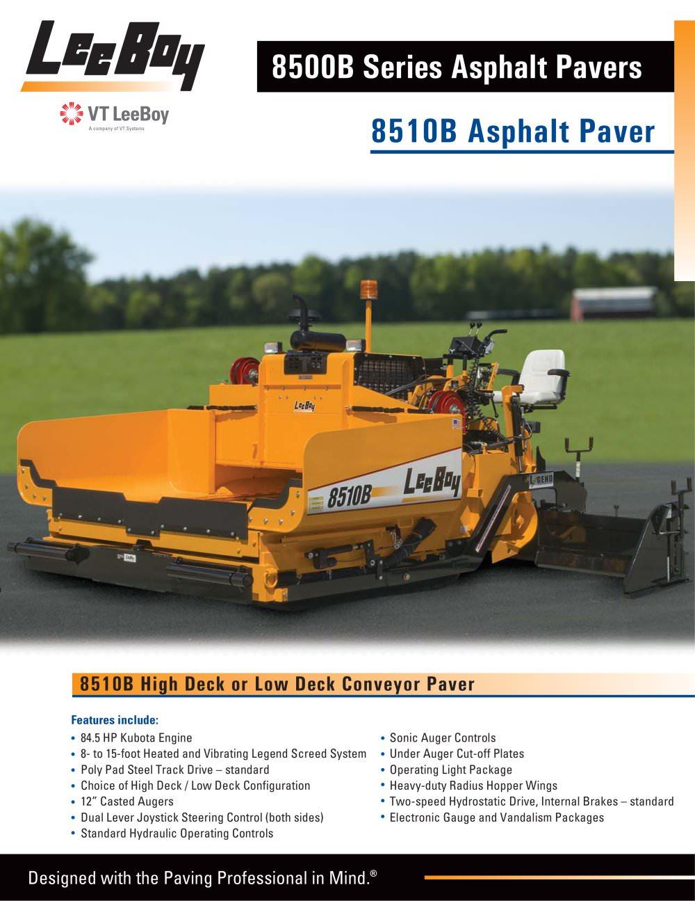 8510b Asphalt Paver 1 4 Pages