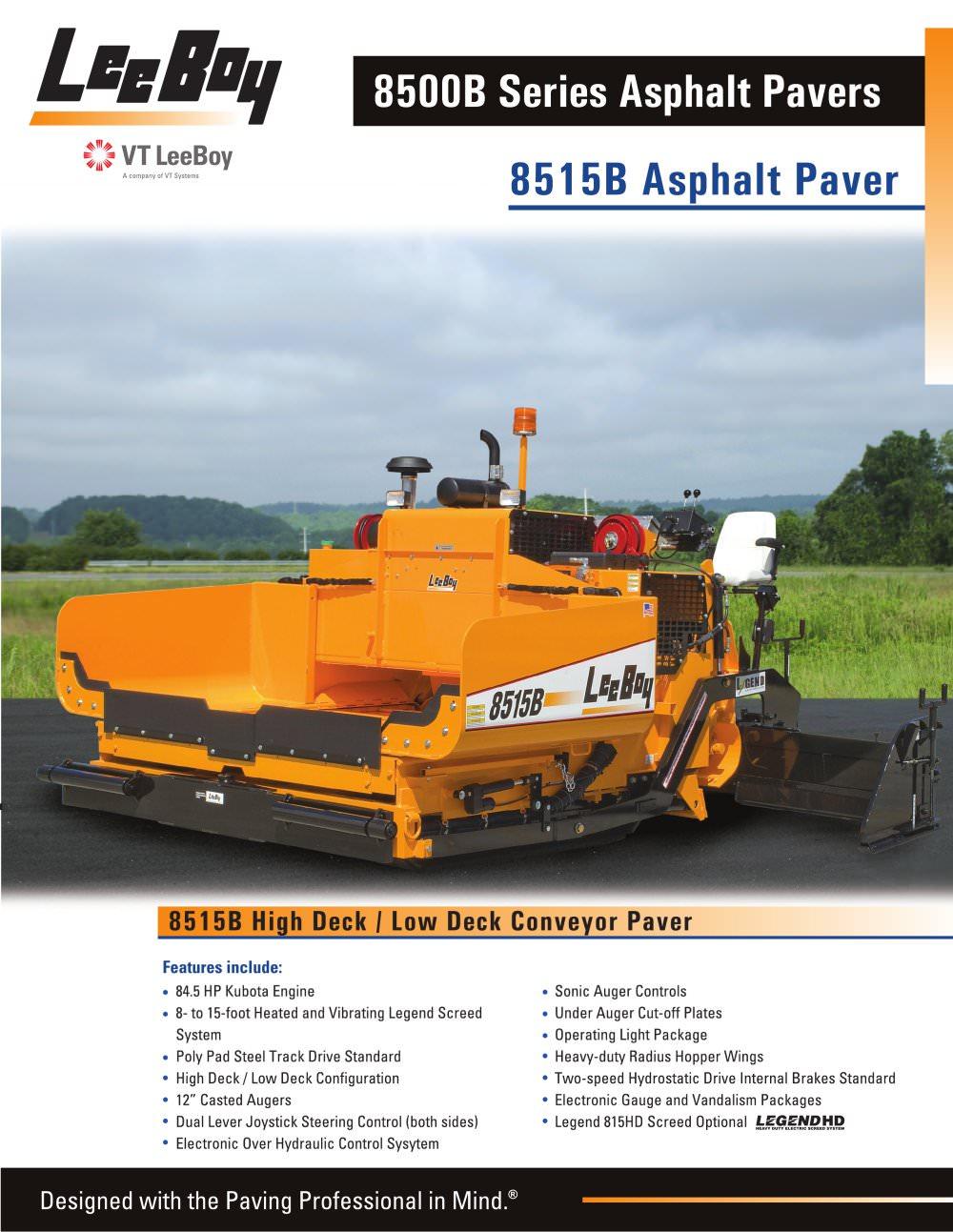 8515b Conveyor Paver 1 4 Pages