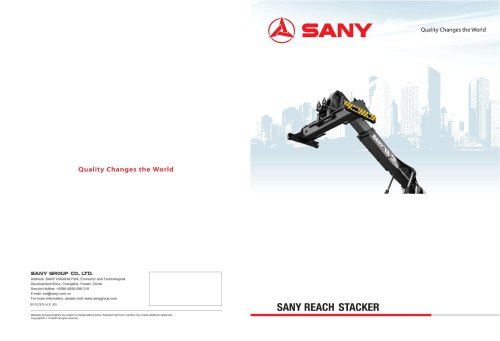 SANY SRSC45H2 Reach Stacker - SANY - PDF Catalogs | Technical