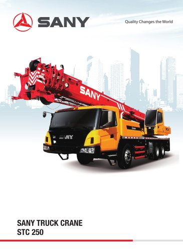sany truck crane stc 250 - 1 / 8 pages