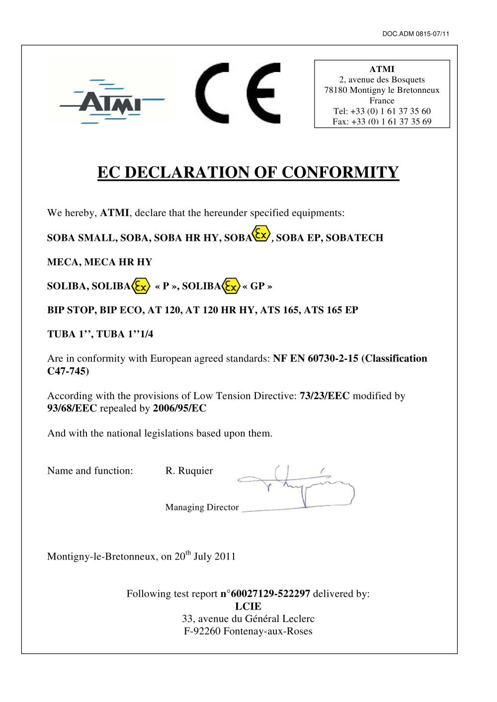 Certificate according the directive 200695ec lease agreement doc ce declaration of conformity atmi pdf catalogue technical ce declaration conformity 612290 1b 52928 612290html certificate according the directive 200695ec yelopaper Gallery