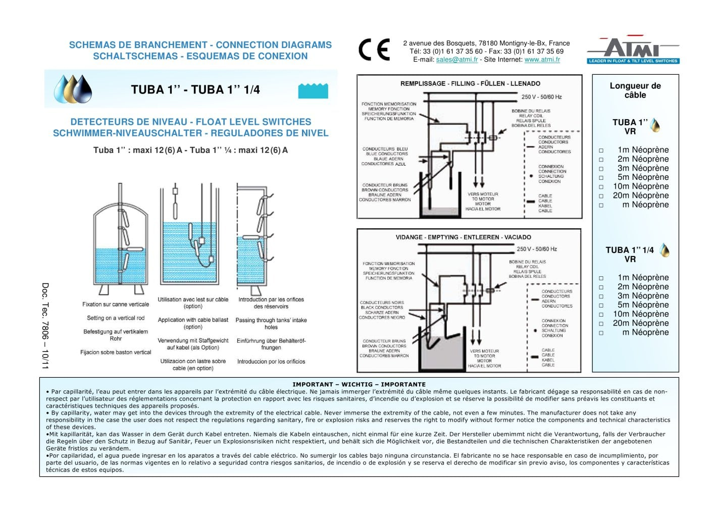 Wiring Diagrams Tuba Atmi Pdf Catalogue Technical Diagram For Cable Internet 1 Pages