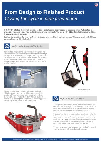 Application Note: Transfluid - Metronor AS - PDF Catalogs