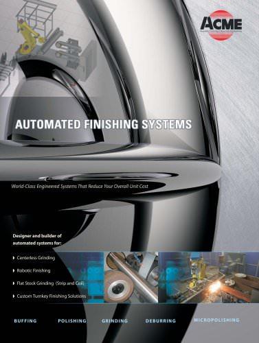 Automated Finishing System - Acme Manufacturing Company - PDF