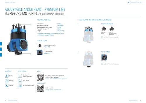 Product sheet: Adjustable angle head  FLEX5C/5-Motion