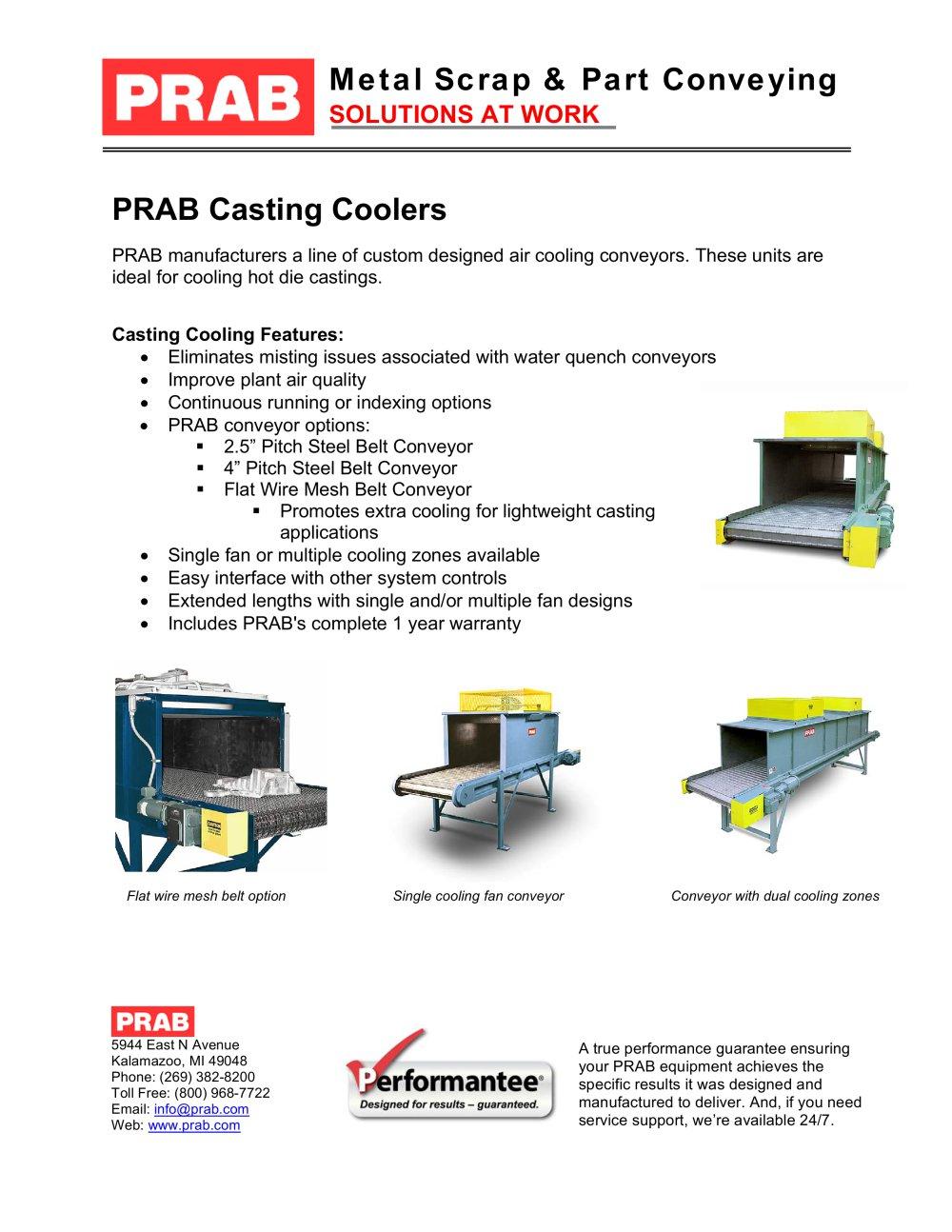 Casting Coolers - PRAB - PDF Catalogue | Technical Documentation ...