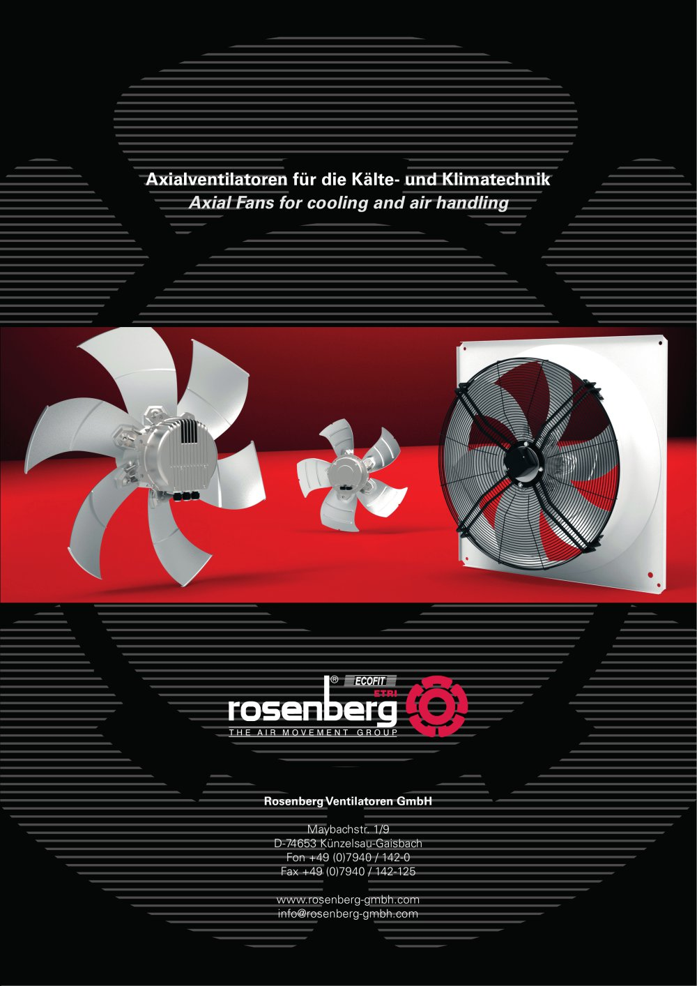 Axial Fans for cooling and air handling (AKFG / AKFD) - ROSENBERG ...