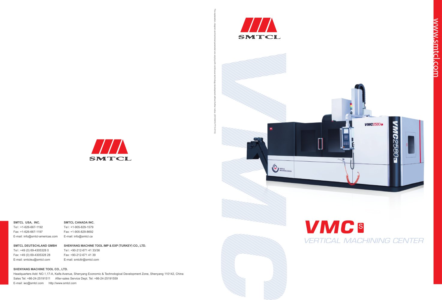 Smtcl Cnc Machining Center 3 Axis Vertical Heavy Duty Vmc S Series 1 4 Pages