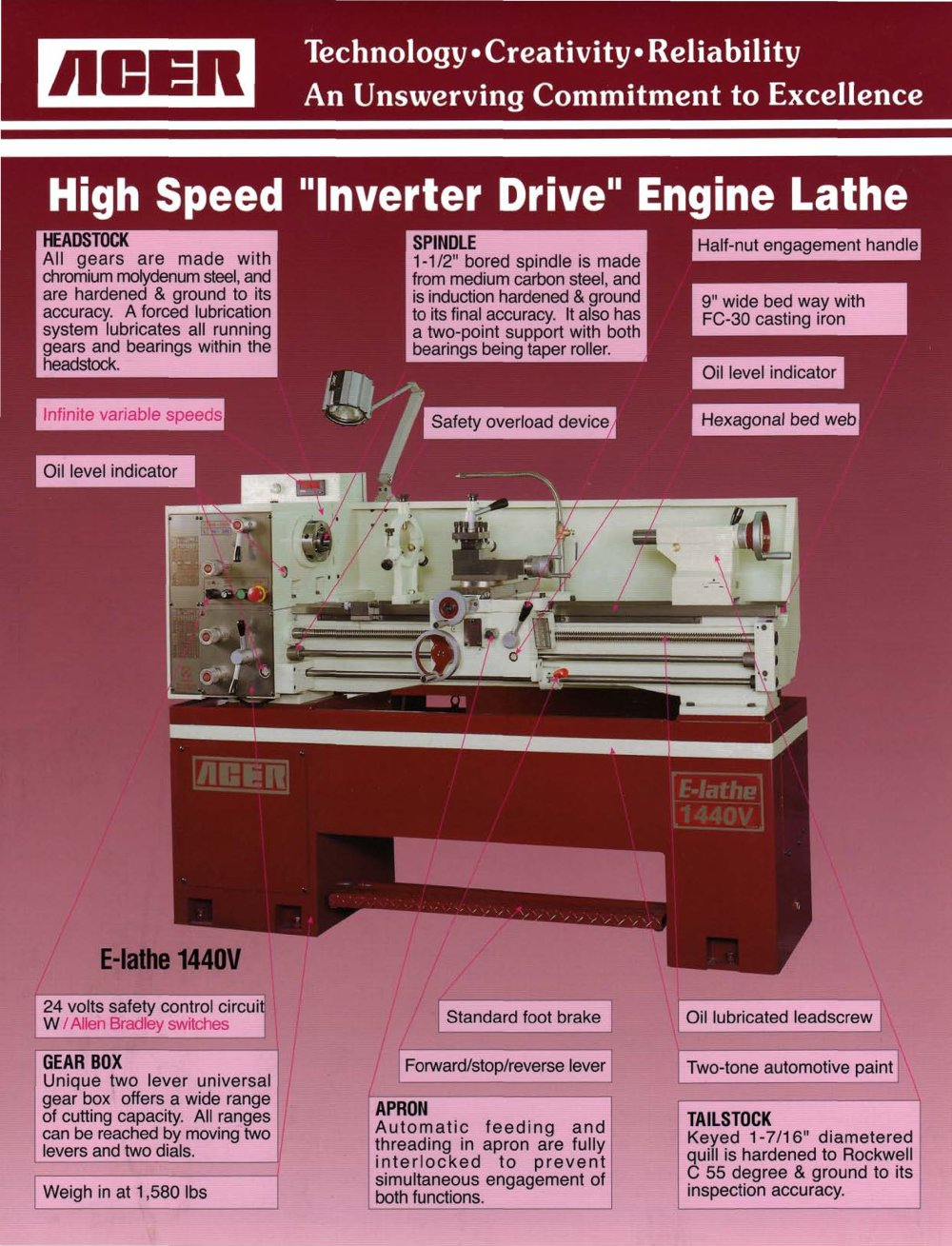 High Speed Inverter Drive Engine Lathe Taiwan Trade Center Reversing A 1 2 Pages
