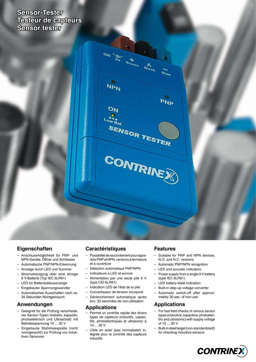 Sensor-Tester - CONTRINEX - PDF Catalogue | Technical Documentation ...