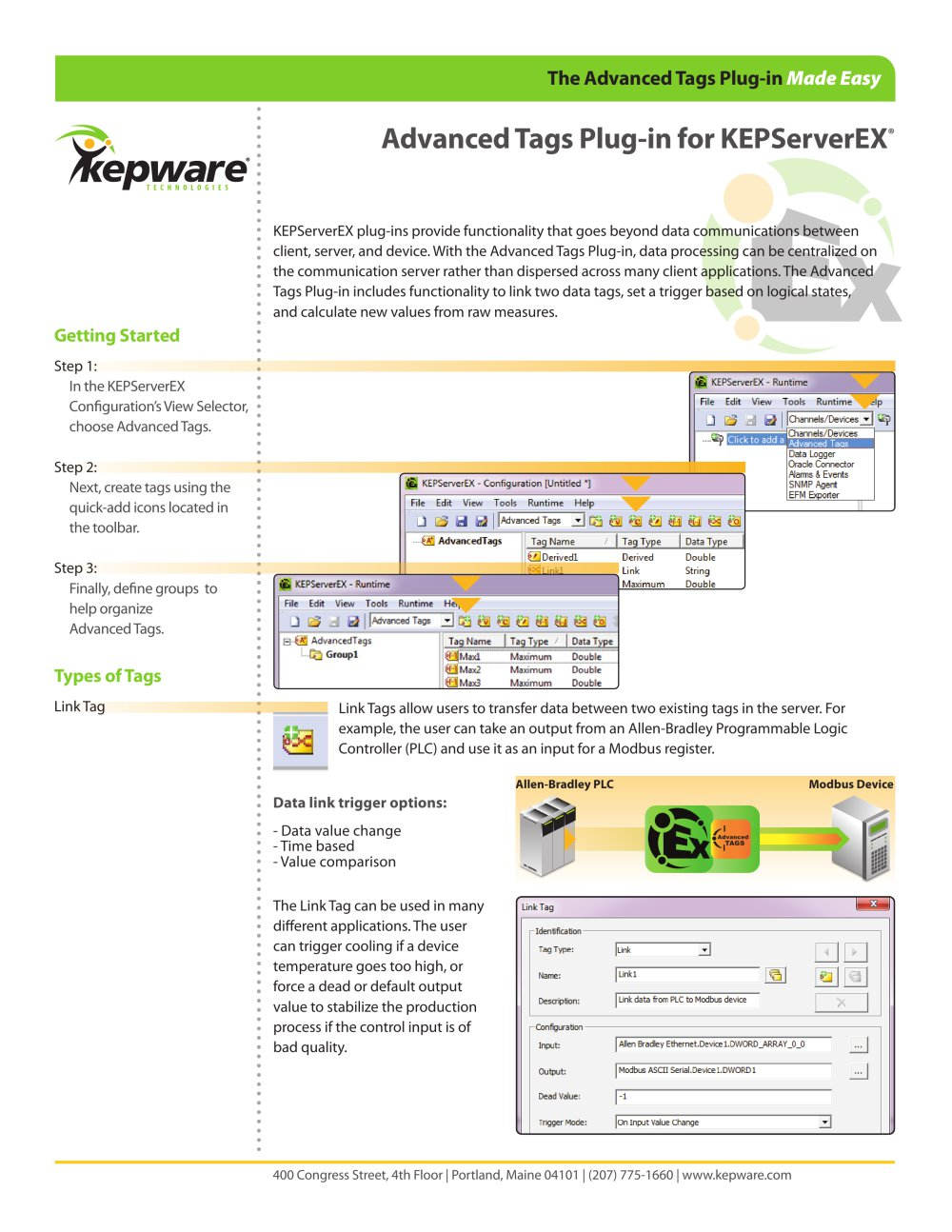 Advanced Tags Plug-in for KEPServerEX® - Kepware - PDF Catalogue ...