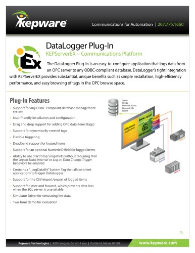DataLogger Plug-In - Kepware - PDF Catalogs | Technical
