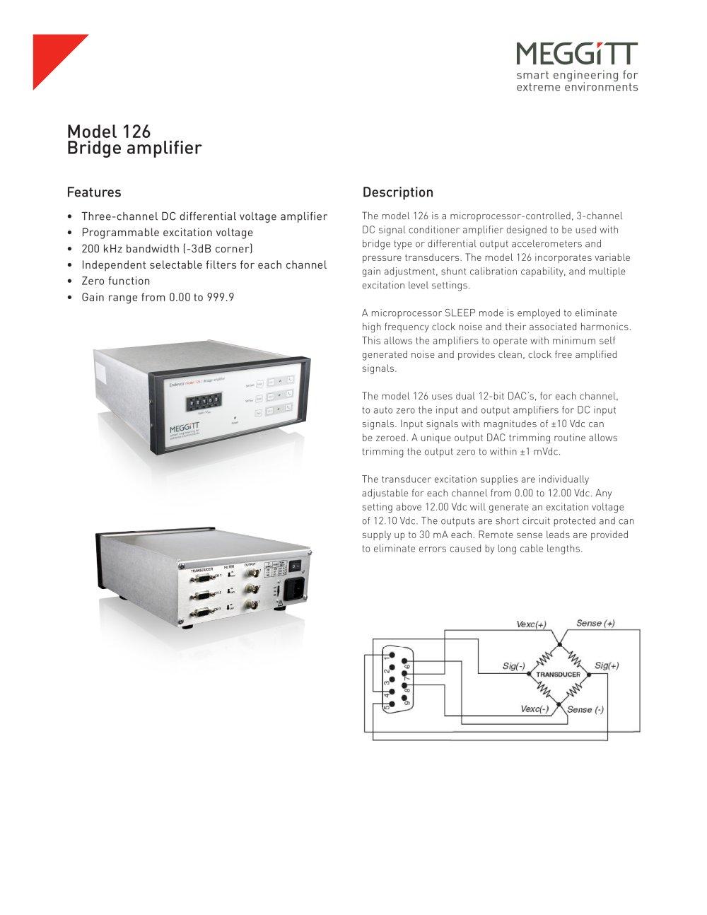 Endevco Model 126 3 Channel Dc Signal Conditioner Meggitt Sensing Linear Voltage Differential Transformer Design 1 2 Pages
