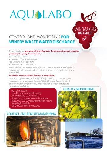 Datasheet - Winemaking - Winery waster water discharge
