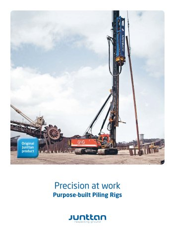 Purpose-built Piling Rigs - Junttan Oy - PDF Catalogs