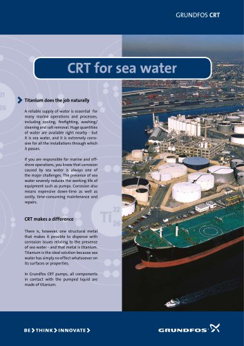 CRT for seawater
