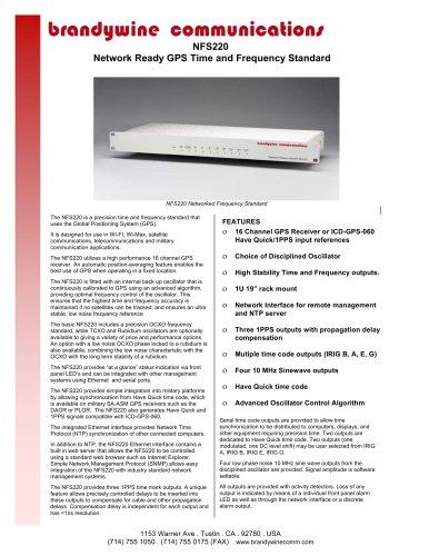 NFS 220 - Brandywine Communications - PDF Catalogs | Technical