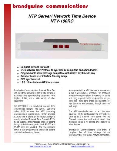 NTV-100RG - Low cost GPS synchronized NTP Server - Brandywine