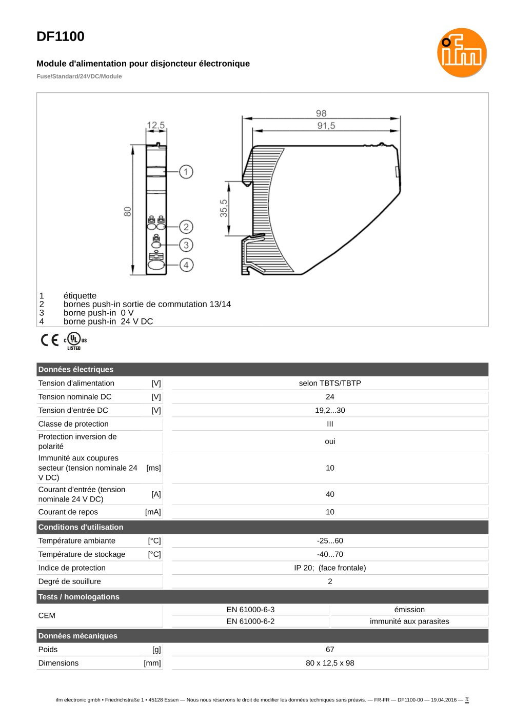 DF1100 - ifm electronic - PDF Catalogs | Technical ... on