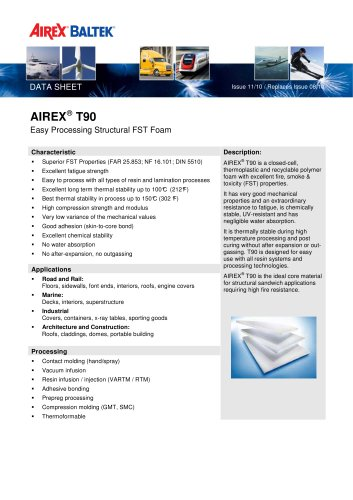 AIREX° T90 - Easy processing structural foam
