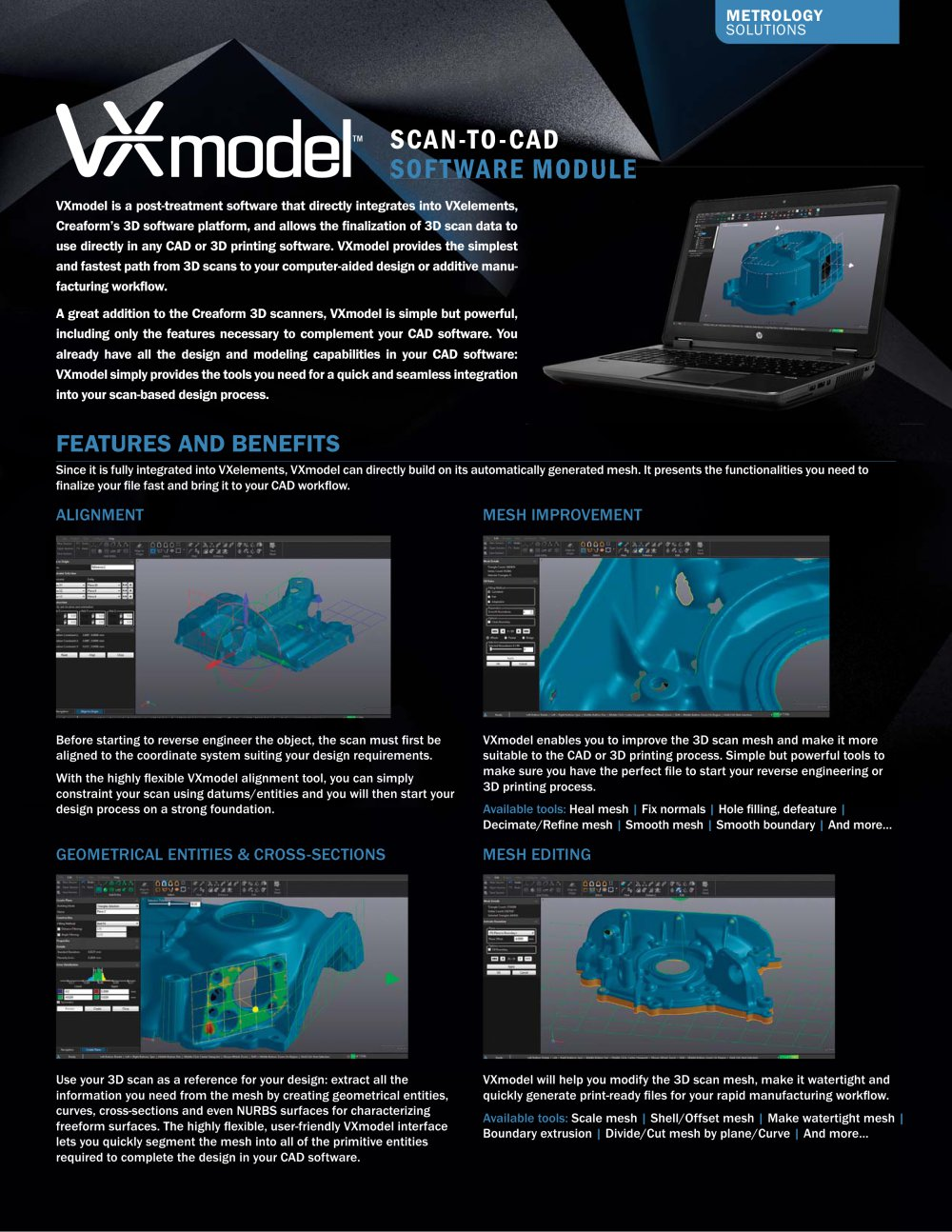 VXmodel: Scan To CAD Software Module   1 / 2 Pages
