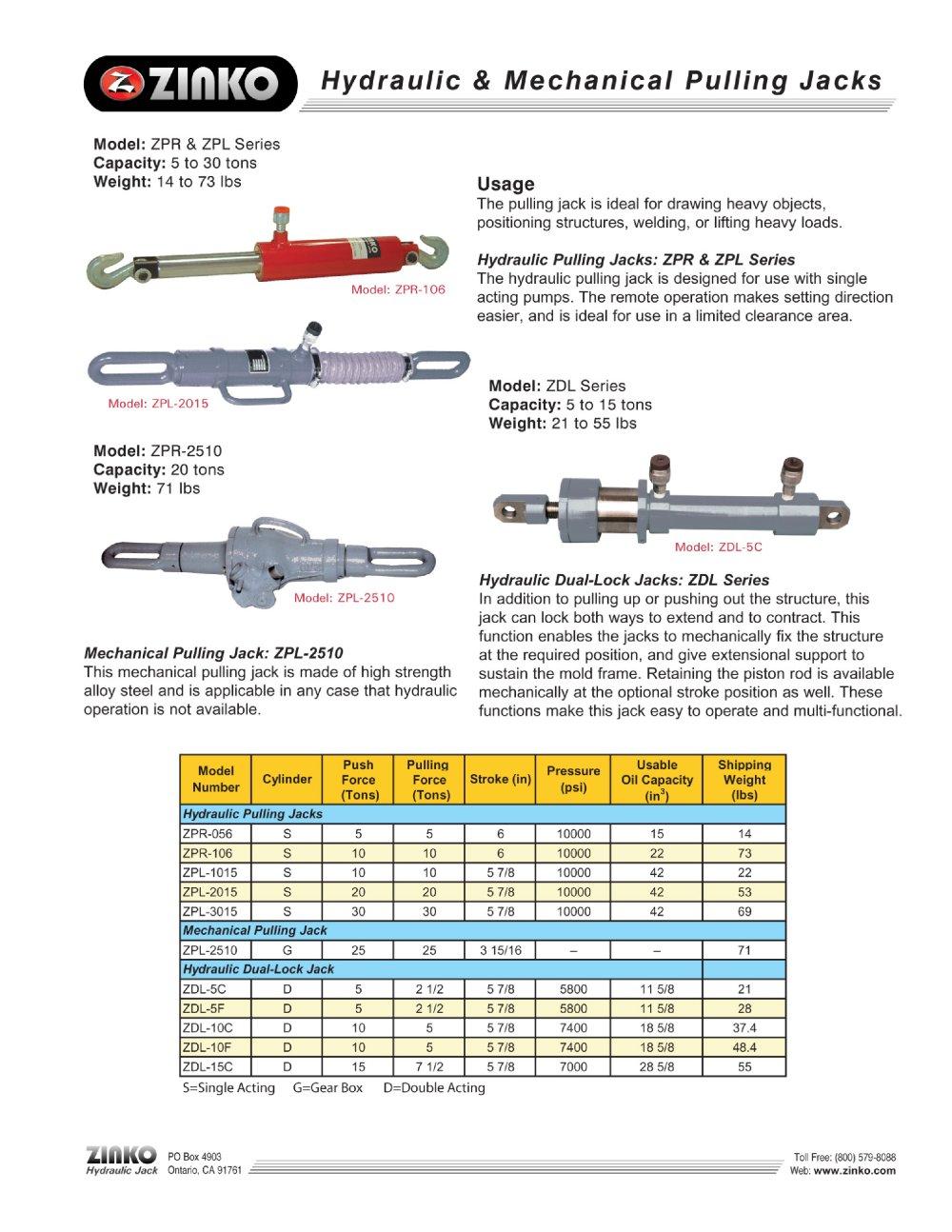 Hydraulic Jack Diagram Pdf Electrical Wiring Diagrams Ton Floor Parts Pulling Zinko Catalogue Michelin