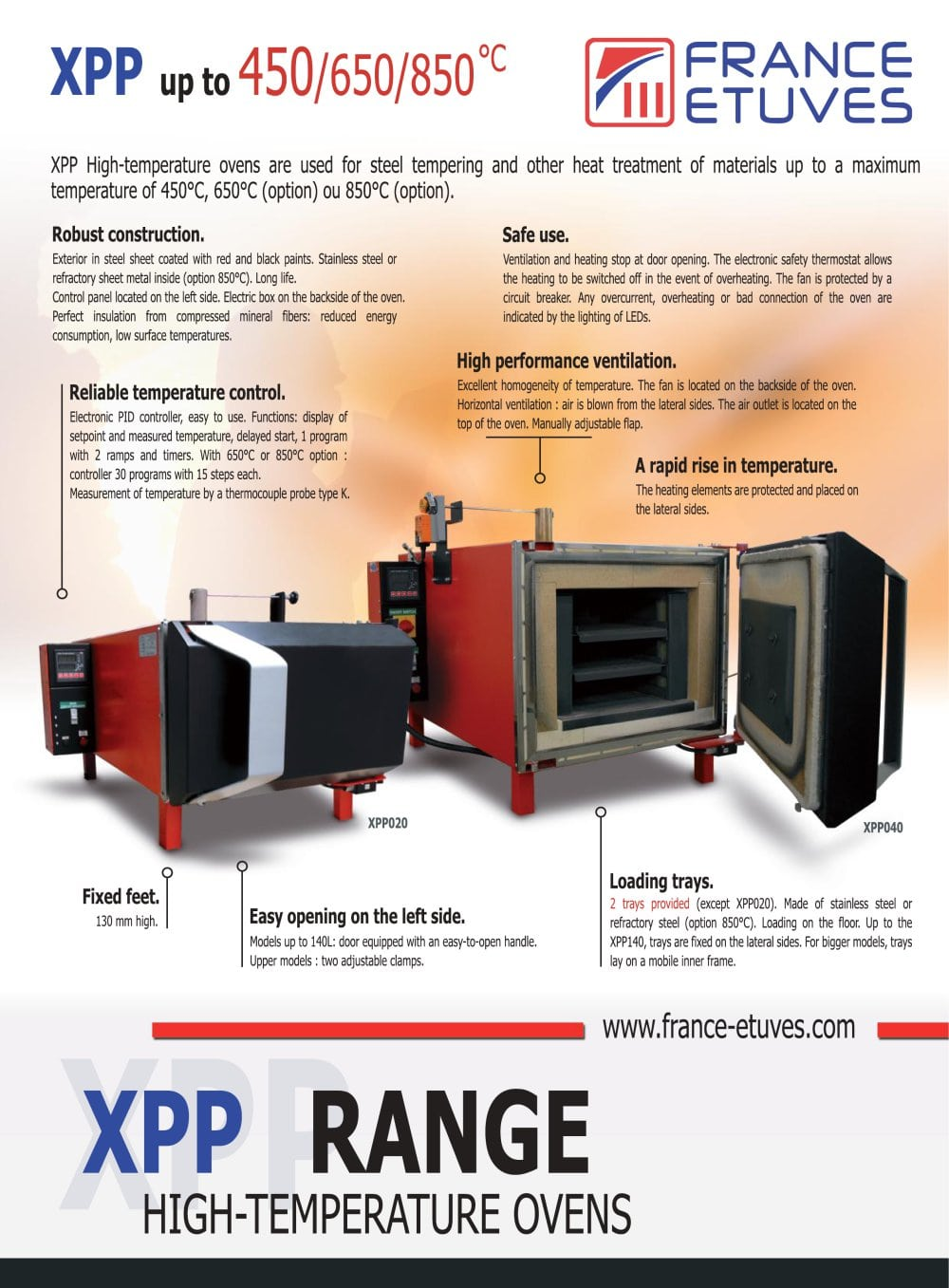 Xpp France Etuves Pdf Catalogue Technical Documentation Brochure Bad Circuit Breaker 1 2 Pages
