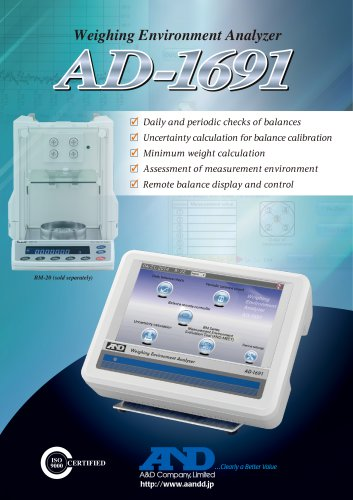 AD-1691 Weighing Environment Analyzer