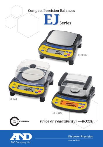 EJ Series of Compact Precision Balances