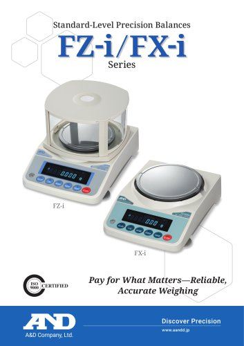 FZ-i & FX-i Series of Standard-Level Precision Balances