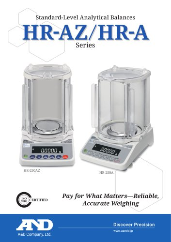 HR-AZ / HR-A Series of Compact Analytical Balances