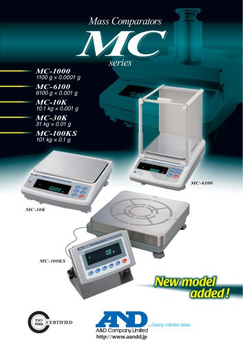 MC Series of Mass Comparators (Precision Balances with Extended Resolution)