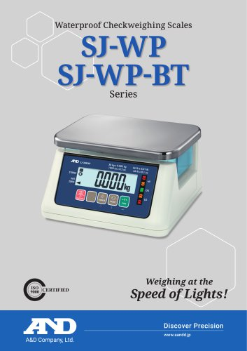 SJ-WP Series of IP67 Compact Bench Scales