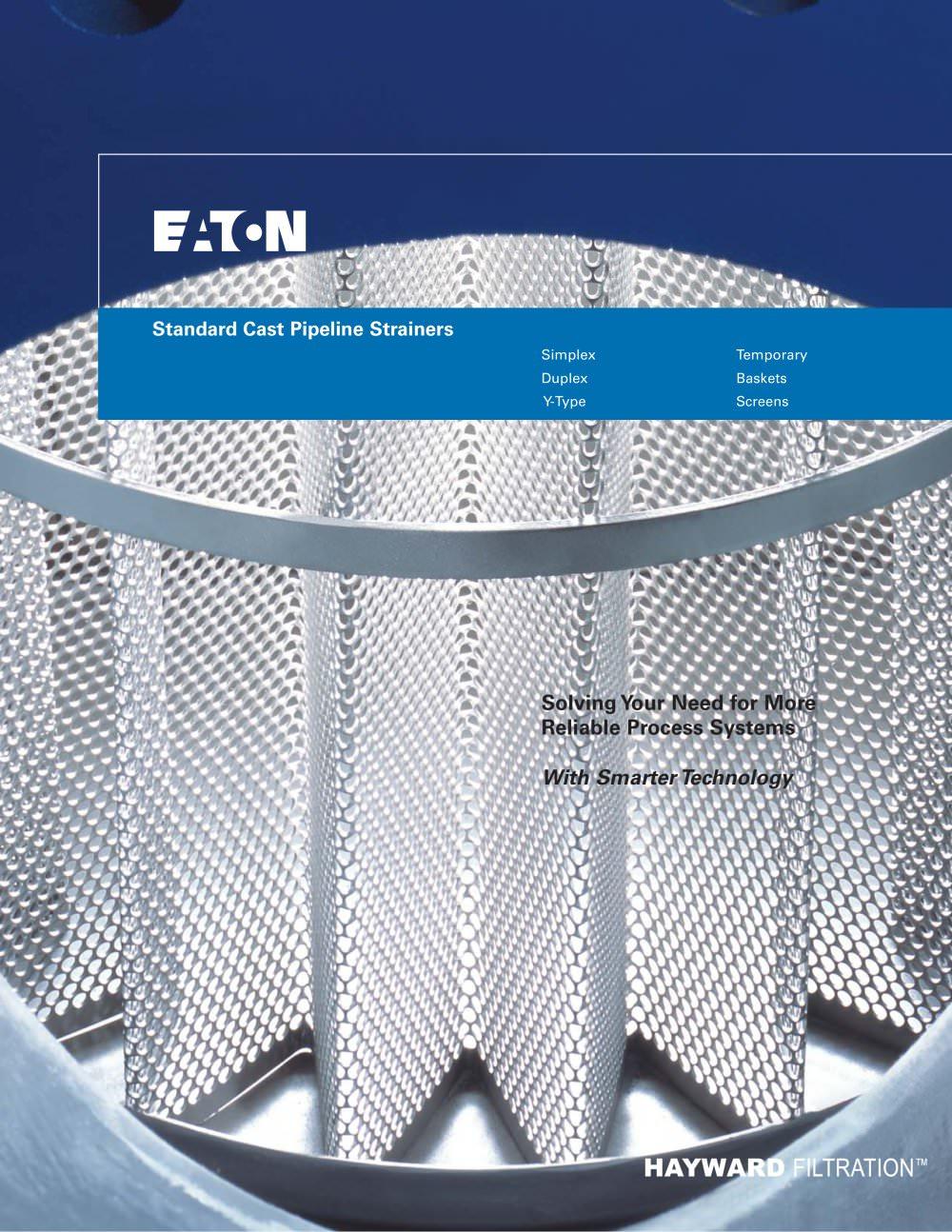 Standard Cast Pipeline Strainers - Eaton Filtration - PDF Catalogue ...
