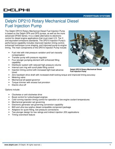 Delphi dp210 rotary mechanical diesel fuel injection pump delphi delphi dp210 rotary mechanical diesel fuel injection pump 1 2 pages fandeluxe Image collections