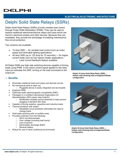 Delphi Solid State Relays SSRs Delphi Power Train PDF