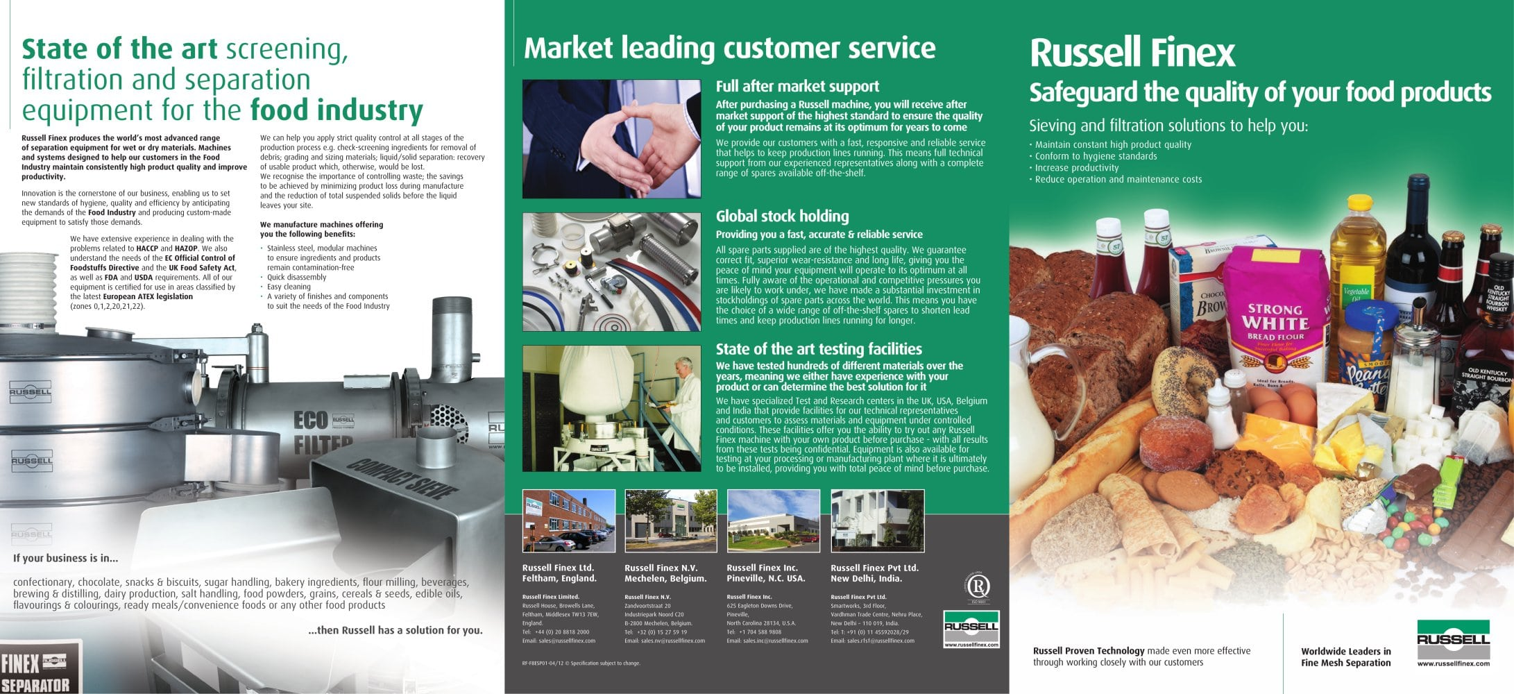 Russell Finex separation equipment for the Food