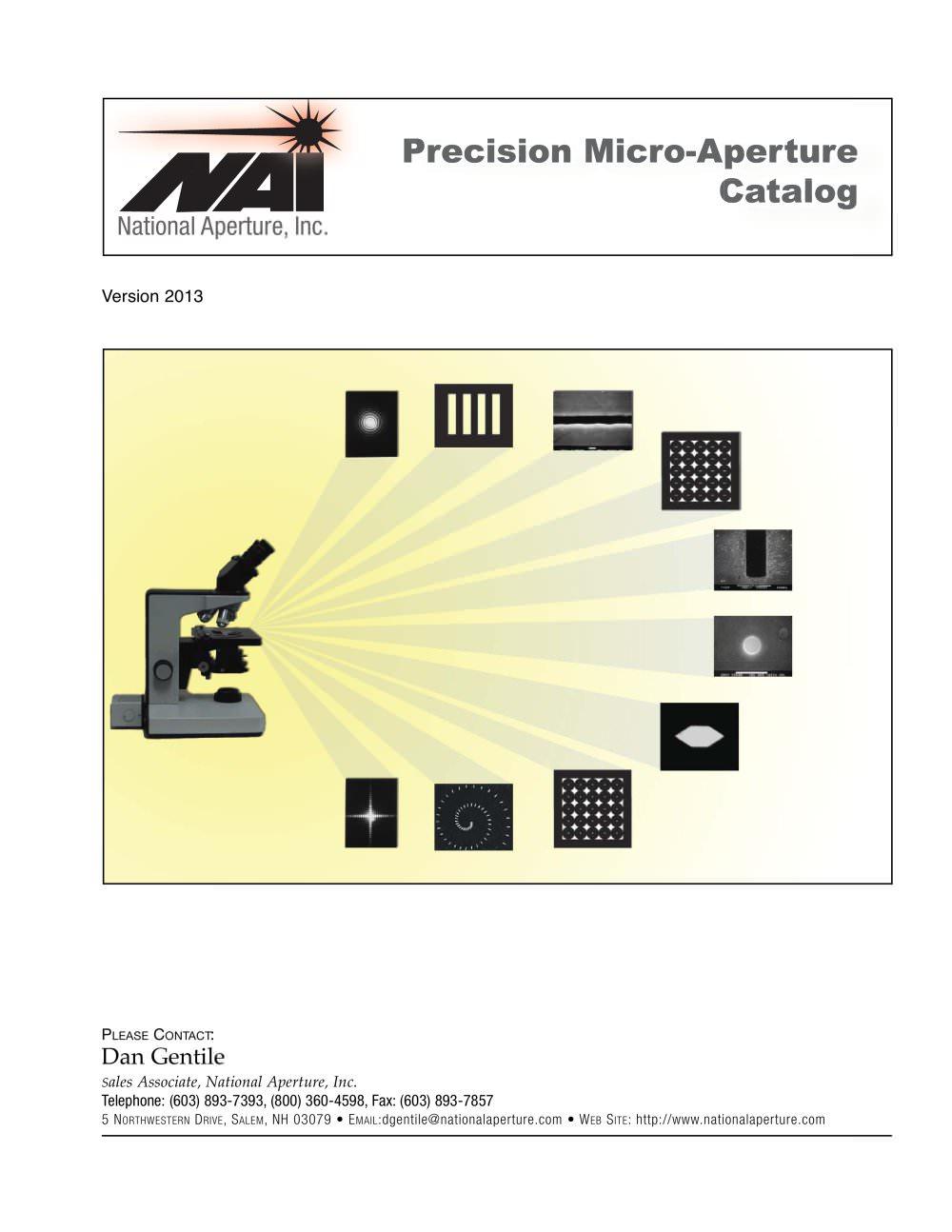 Micro apertures catalog national aperture inc pdf catalogue micro apertures catalog 1 14 pages pooptronica Images