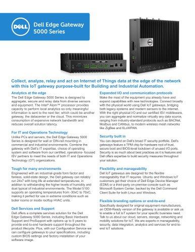 Dell Edge Gateway 5000 Series - Dell EMC OEM & IoT Soutions - PDF