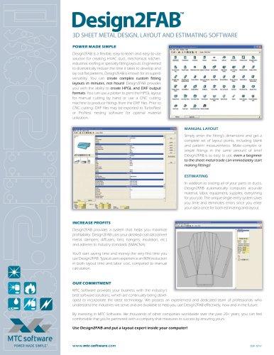 Design2Fab 3D Sheet Metal Design, Layout and Estimating Software