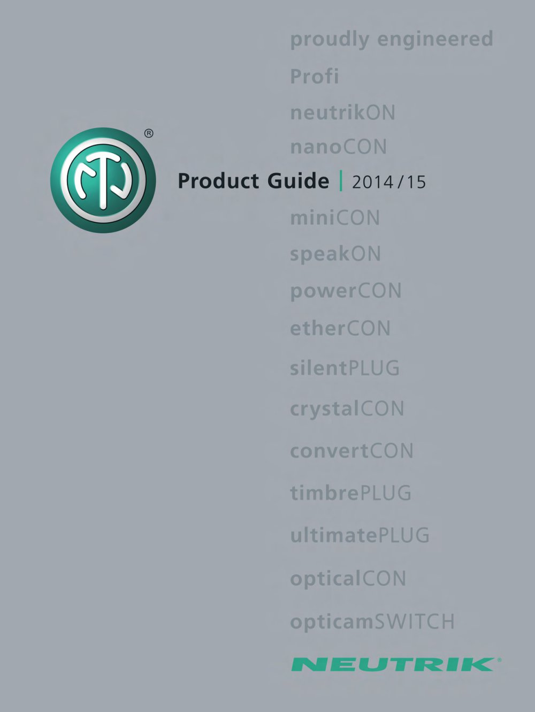 Neutrik Product Guide 2014 - Neutrik - PDF Catalogue | Technical ...